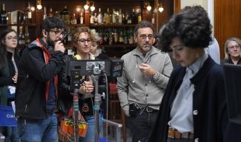 io sono mia il regista riccardo donna con serena rossi sul set del film photo bepi caroli