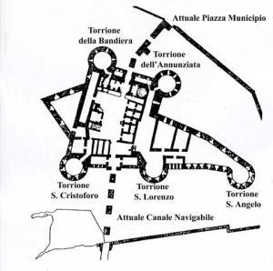 taranto castello aragonese piantina