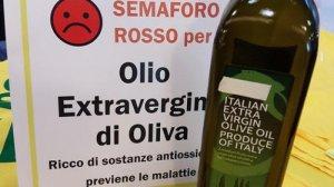 alimentazione semaforo rosso olio oliva