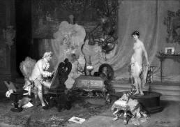 l Pittore con la Modella  - Francesco Beda