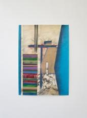 Diego Mirabella_Si,Si #05_2015_Inchiostro, matite, smalto spray su carta_140x99cm