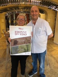 Donatella Cinelli Colombini con Abraham Said titolare di Vini e Capricci a Gozo