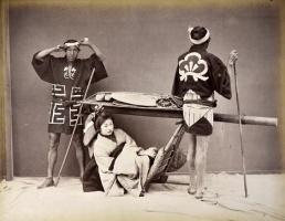 Geisha, fotografia all'albumina, periodo Meiji (1868-1912)
