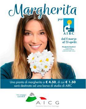 locandina Margherita per Airc 2020